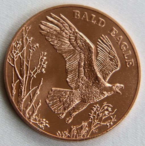 2013 Bald Eagle National Wildlife Refuge System Centennial Bronze Medal - Reverse