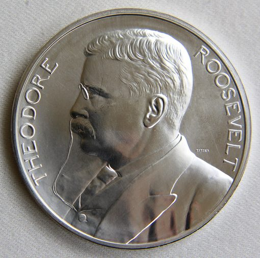 2013 Silver Theodore Roosevelt Presidential Medal - Obverse