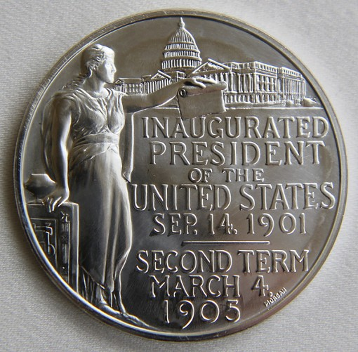 2013 Silver Theodore Roosevelt Presidential Medal - Reverse