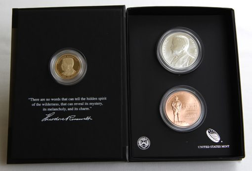 2013 Theodore Roosevelt Coin and Chronicles Set opened half way