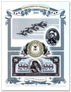 2014 Air Force Intaglio Print from Defenders of Freedom Series