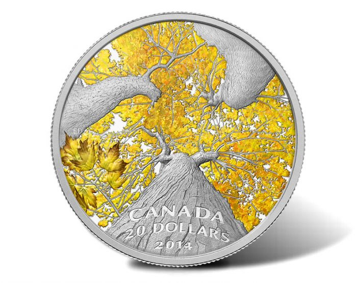 2014 Autumn Allure Silver Coin from Canadian Maple Canopy Series