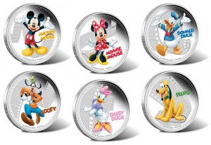 2014 Disney Mickey & Friends Collectible Coins