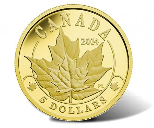 2014 Majestic Maple Leaves Gold Coin