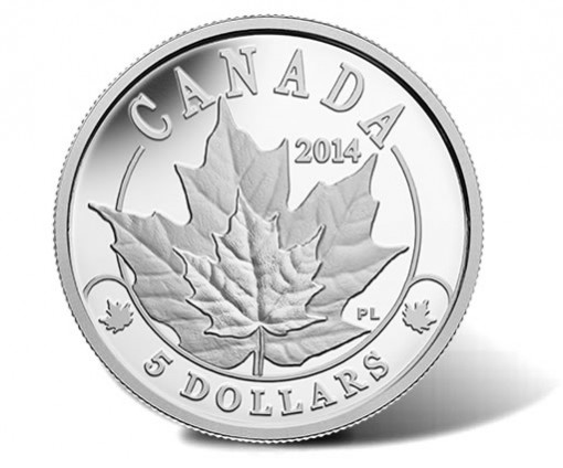 2014 Majestic Maple Leaves Plainum Coin
