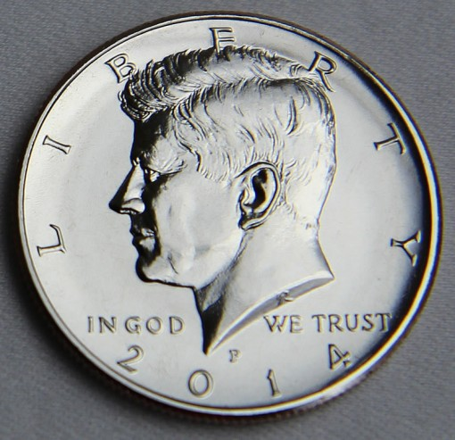 2014-P Uncirculated 50th Anniversary Kennedy Half-Dollar - Obverse 2