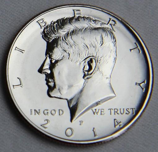 2014-P Uncirculated 50th Anniversary Kennedy Half-Dollar - Obverse 2
