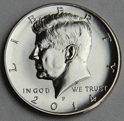 2014-P Uncirculated 50th Anniversary Kennedy Half-Dollar - Obverse