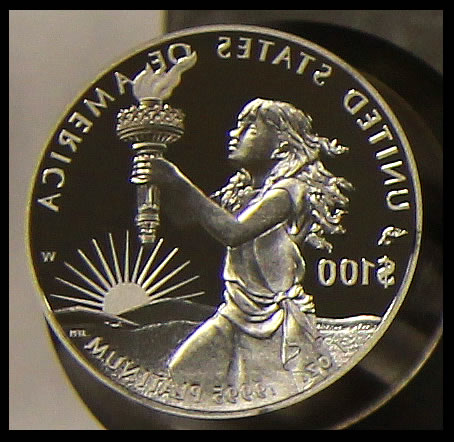 2014 Proof Platinum Eagle Coin Die - Reverse