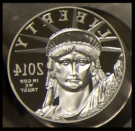 2014 Proof Platinum Eagle Coin Dies - Obverse