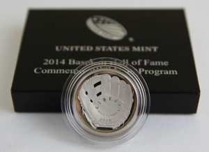 2014-S 50c Proof National Baseball Hall of Fame Commemorative Coin