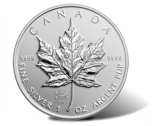 2014 Silver Maple Leaf with an ANA Privy Mark