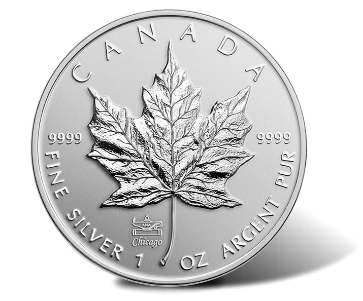 2014 Silver Maple Leaf Features Chicago Ana Privy Mark