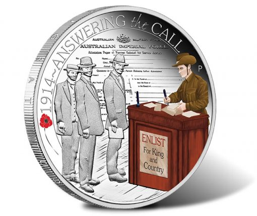 ANZAC Spirit 2014 Answering the Call Silver Proof Coin