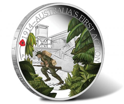 ANZAC Spirit 2014 Australia's First Action Silver Proof Coin