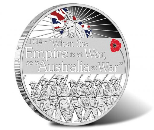 ANZAC Spirit 2014 Declaration of War Silver Proof Coin