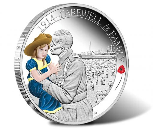 ANZAC Spirit 2014 Farewell to Family Silver Proof Coin