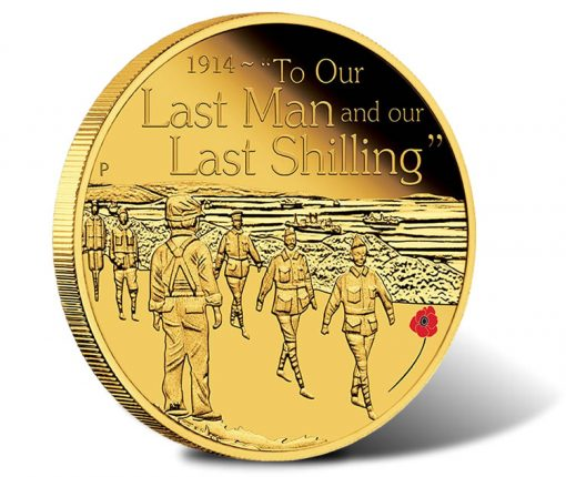 ANZAC Spirit 2014 To Our Last Man Gold Proof Coin