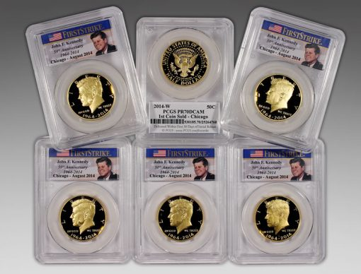 First Six Chicago Kennedy Gold 50c