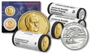 Franklin D. Roosevelt $1s and Great Sand Dunes quarters