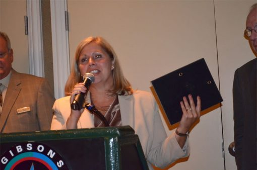 Kathy McFadden Accepts for Diane Piret