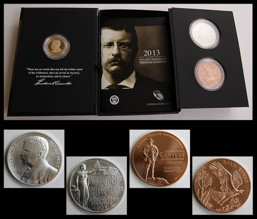 Medals of the 2013 Theodore Roosevelt Coin and Chronicles Set