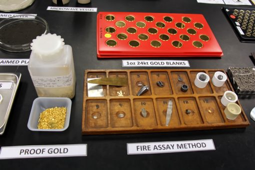 Photo of the fire assay method