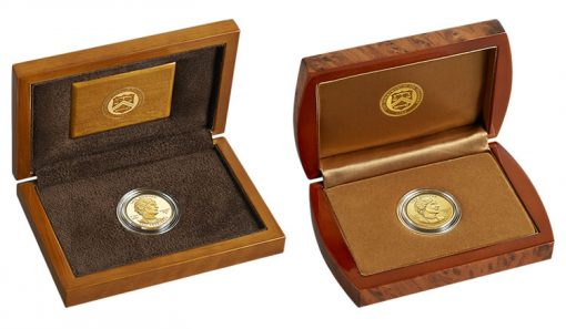 Presentation Cases for Proof and Uncirculated Lou Hoover First Spouse Gold Coins