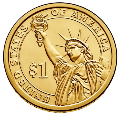 Presidential $1 Coin - Reverse or Tails Side