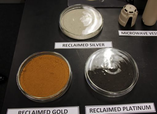 Reclaimed silver, gold and platinum from the assaying process