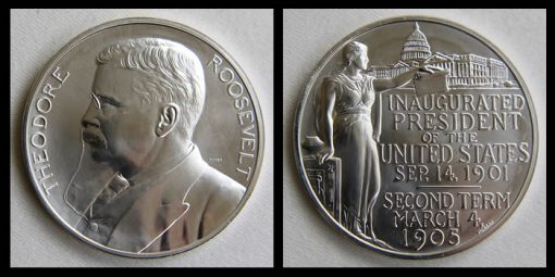 Silver Theodore Roosevelt Presidential Medal