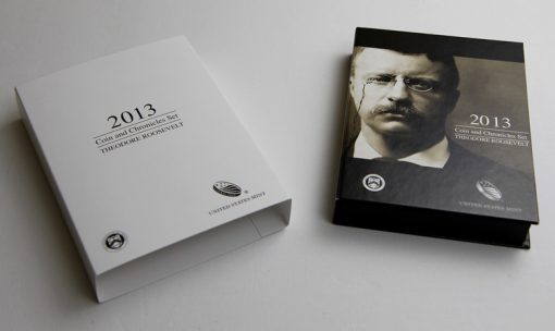 Slip Cover and Packaging for 2013 Theodore Roosevelt Coin and Chronicles Set