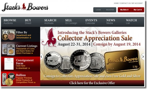 Stack's Bowers Galleries website