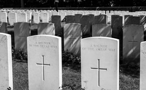 WWI cemetery monuments