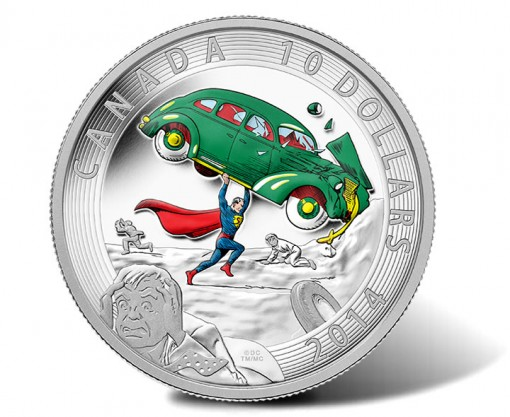 2014 $10 Superman 1/2 Oz Silver Proof Coin