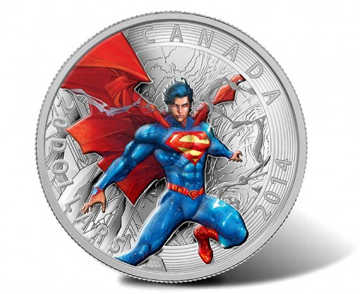2014 $20 Superman 1 Oz Silver Proof Coin