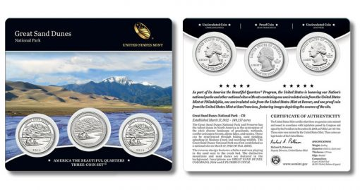 2014 Great Sand Dunes Quarters Three-Coin Set