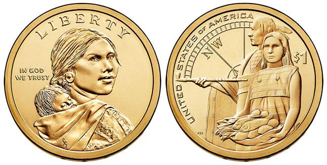 2014 Native American $1 Dollar Coin