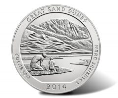 2014-P Great Sand Dunes 5 Oz Silver Coins Hit 20K in Sales Debut