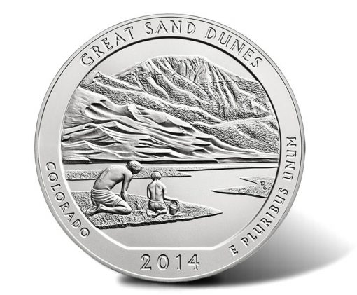2014-P Great Sand Dunes National Park Five Ounce Silver Uncirculated Coin