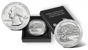 2014 Great Sand Dunes 5 Oz Silver Uncirculated Coin Released