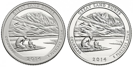 2014 Proof and Uncirculated Great Sand Dunes National Park Quarters