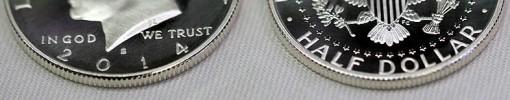 2014-S Enhanced Uncirculated Kennedy Half-Dollar Silver Coin - Edges