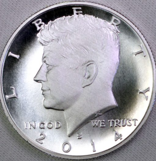 2014-S Enhanced Uncirculated Kennedy Half-Dollar Silver Coin - Obverse
