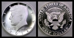 2014-S Enhanced Uncirculated  Kennedy Half-Dollar Silver Coin Photos