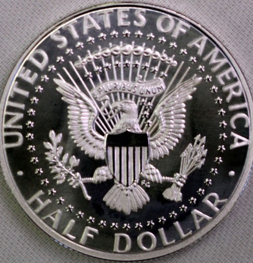 2014-S Enhanced Uncirculated Kennedy Half-Dollar Silver Coin - Reverse