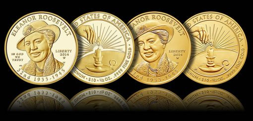 2014-W $10 Proof Eleanor First Spouse Gold Coins (Proof and Uncirculated)