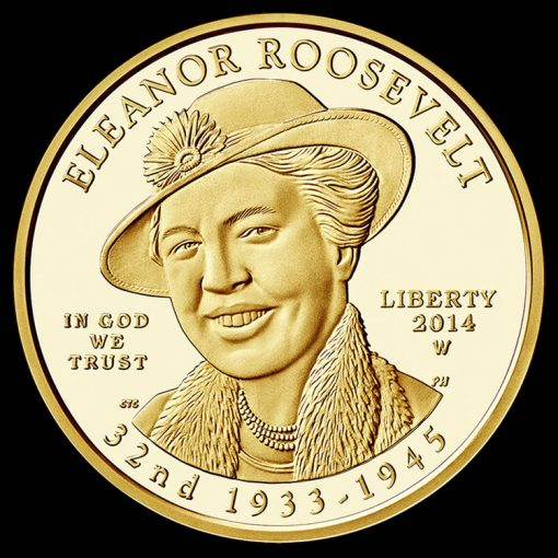 2014-W $10 Proof Eleanor Roosevelt First Spouse Gold Coin - Obverse