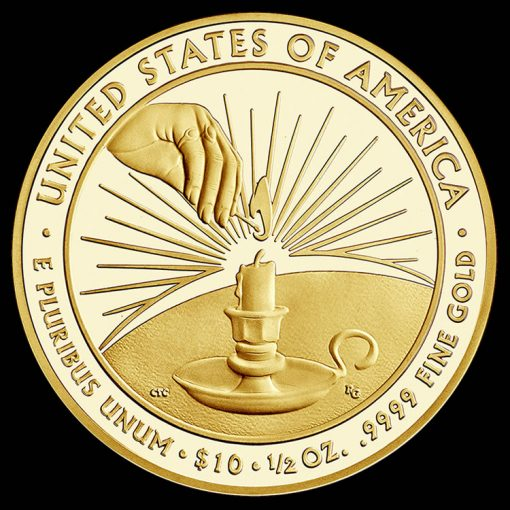 2014-W $10 Proof Eleanor Roosevelt First Spouse Gold Coin - Reverse