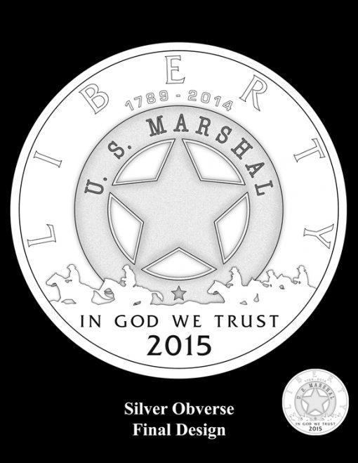 2015 US Marshals Service Silver Dollar Design (Obverse)